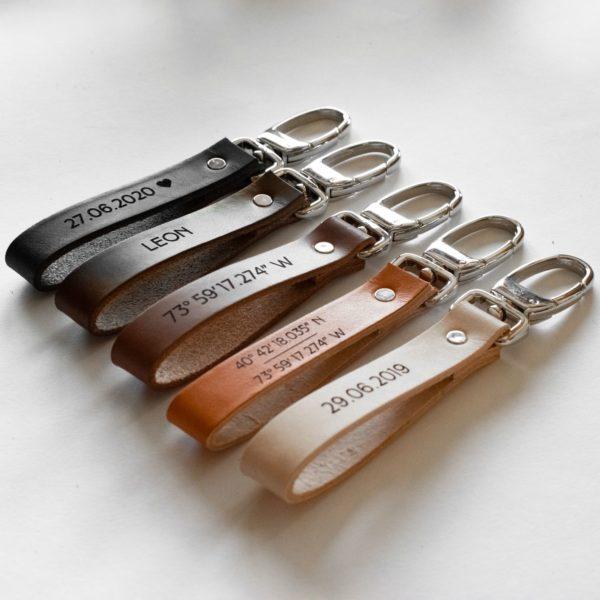 LEON - Porte-clé personnalisé en cuir - NEPTUUN