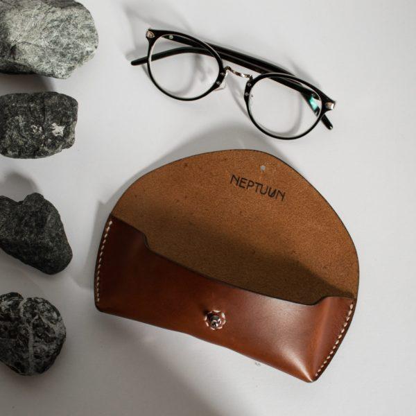 Etui à lunettes Marron