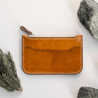 Basile - porte-monnaie en cuir - Miel