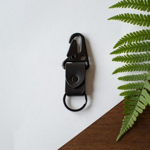 Porte clé en cuir noir - Neptuun