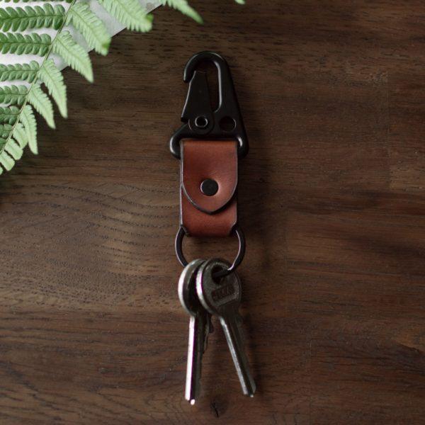 Porte clé en cuir marron - Neptuun
