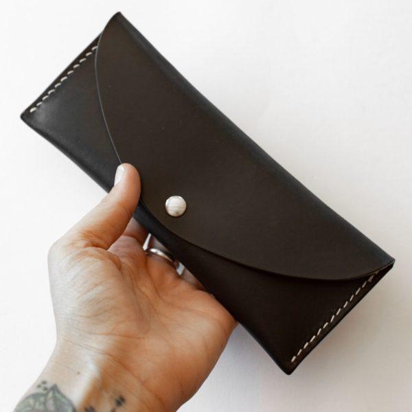 FELIX - Trousse en cuir Noir - NEPTUUN