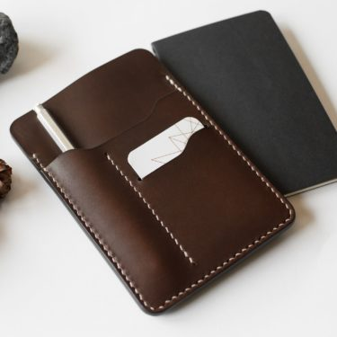 Achille, Notebook leather case - Neptuun