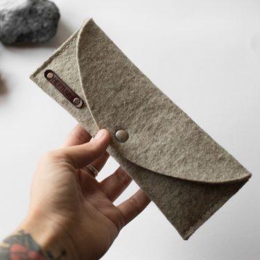FELIX - Trousse en feutre et cuir