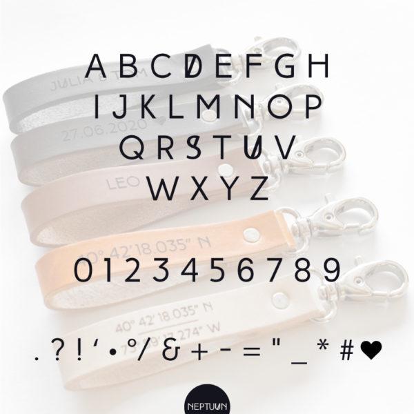 LEO - Porte-clé personnalisé en cuir- NEPTUUN_