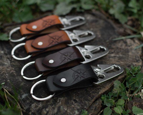 MAX - Porte clé en cuir - Boussole - NEPTUUN